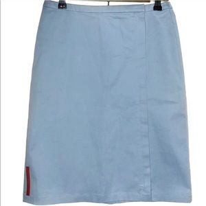 Prada sport pencil skirt ice blue
